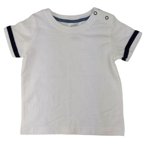 Preloved, Used, Secondhand, Babies, 00, Dymples, t-shirt, Excellent, White, Essential, Summer, Babies Size 00, Baby