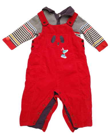 Preloved, Used, Secondhand, Babies, 0, Catimini, set, Good, Red, Winter, Designer, Stylish, Babies Size 0, Baby
