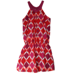 Pre-loved, Used, Secondhand, Girls, 10, Okaidi, dress, Good, Red, Stylish, Party, Designer, Girls Size 10