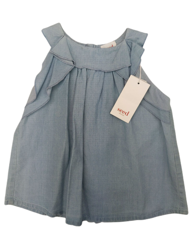 New, Girls, 3,4, Seed, top, New with tags, Blue, Summer, Autumn, Stylish, Girls Size 3,4,
