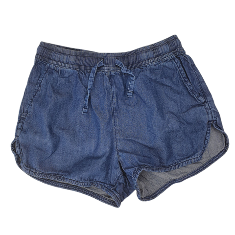 Pre-loved, Used, Secondhand, Girls, 10, Tilii, shorts, Excellent, Blue, Daycare, Animals, Girls Size 10