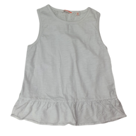 Pre-loved, Used, Secondhand, Girls, 8, Country Road, top, Excellent, White, Essential, Summer, Girls Size 8