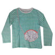 Pre-loved, Used, Secondhand, Girls, 8, Cotton On Kids, t-shirt, Excellent, Green, , Girls Size 8