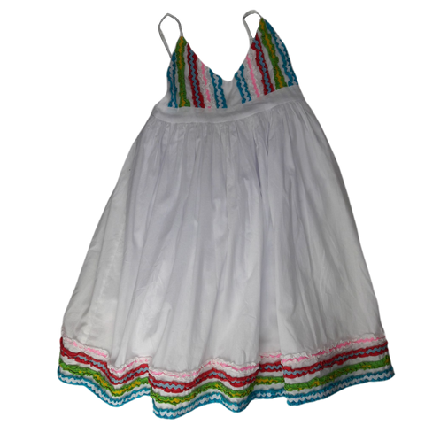 Pre-loved, Used, Secondhand, Girls, 8, Coolibah, dress, Excellent, White, Summer, Girls Size 8