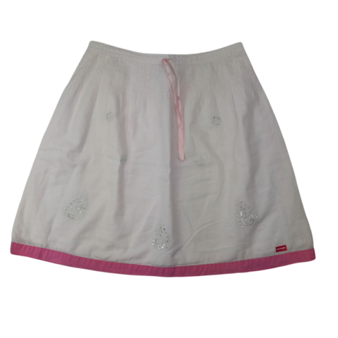 Pre-loved, Used, Secondhand, Girls, 6, OshKosh, skirt, Excellent, White, Pink, Summer, Girls Size 6