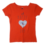 Pre-loved, Used, Secondhand, Girls, 7, Carter's, t-shirt, Good, Red, Summer, Stylish, Party, Autumn, Girls Size 7