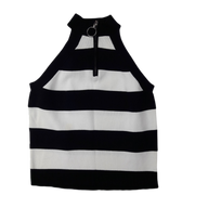 Pre-loved, Used, Secondhand, Girls, 10, Bardot Junior, top, Excellent, Black, White, Summer, Stylish, Designer, Autumn, Girls Size 10