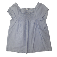 Pre-loved, Used, Secondhand, Girls, 10, Jacadi, top, Excellent, Blue, Autumn, Winter, Stylish, Girls Size 10