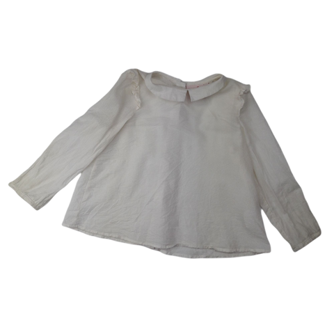 Pre-loved, Used, Secondhand, Girls, 5, Little Leona Edmiston, top, Excellent, White, Autumn, Spring, Girls Size 5