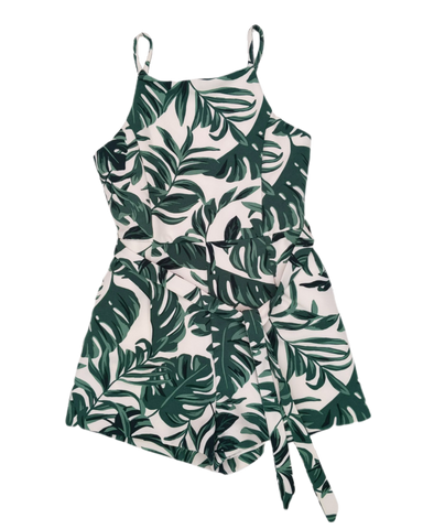 Preloved, Used, Secondhand, Girls, 8, Bardot Junior, jumpsuit, Excellent, White, Green, Summer, Stylish, Party, Spring, Girls Size 8,