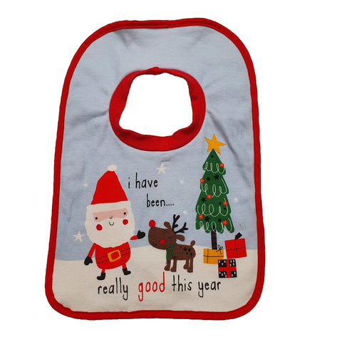 Bib Size 0-1 Nutmeg Santa bib Junico Kids 5.99 Junico Kids sustainable affordable preloved baby kids clothing clothes local shop australia