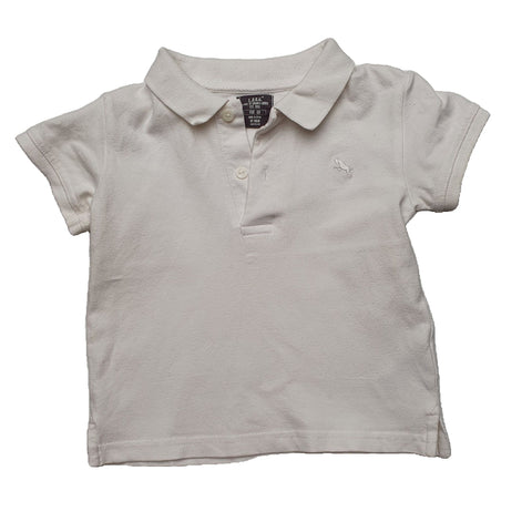 Polo Shirt Size 1-2 LOGG white polo shirt Junico Kids 6.99 Junico Kids sustainable affordable preloved baby kids clothing clothes local shop australia