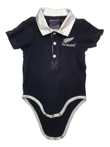 Romper Size 1 All Blacks NZ rugby romper Junico Kids 11.90 Junico Kids sustainable affordable preloved baby kids clothing clothes local shop australia