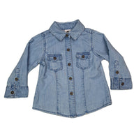 Shirt Size 1 H&T long-sleeve denim shirt Junico Kids 5.99 Junico Kids sustainable affordable preloved baby kids clothing clothes local shop australia