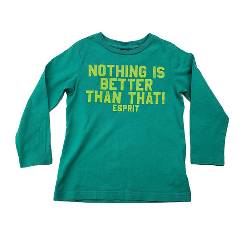 T-Shirt Size 4-5 Esprit long-sleeve t-shirt Junico Kids 9.99 Junico Kids sustainable affordable preloved baby kids clothing clothes local shop australia
