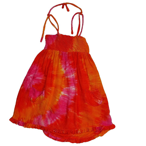 Dress Size 4-5 Tree Child tie dye dress Junico Kids 10.90 Junico Kids sustainable affordable preloved baby kids clothing clothes local shop australia