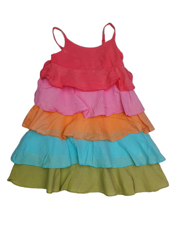 Dress Size 6 Milkshake rainbow dress Junico Kids 15.90 Junico Kids sustainable affordable preloved baby kids clothing clothes local shop australia