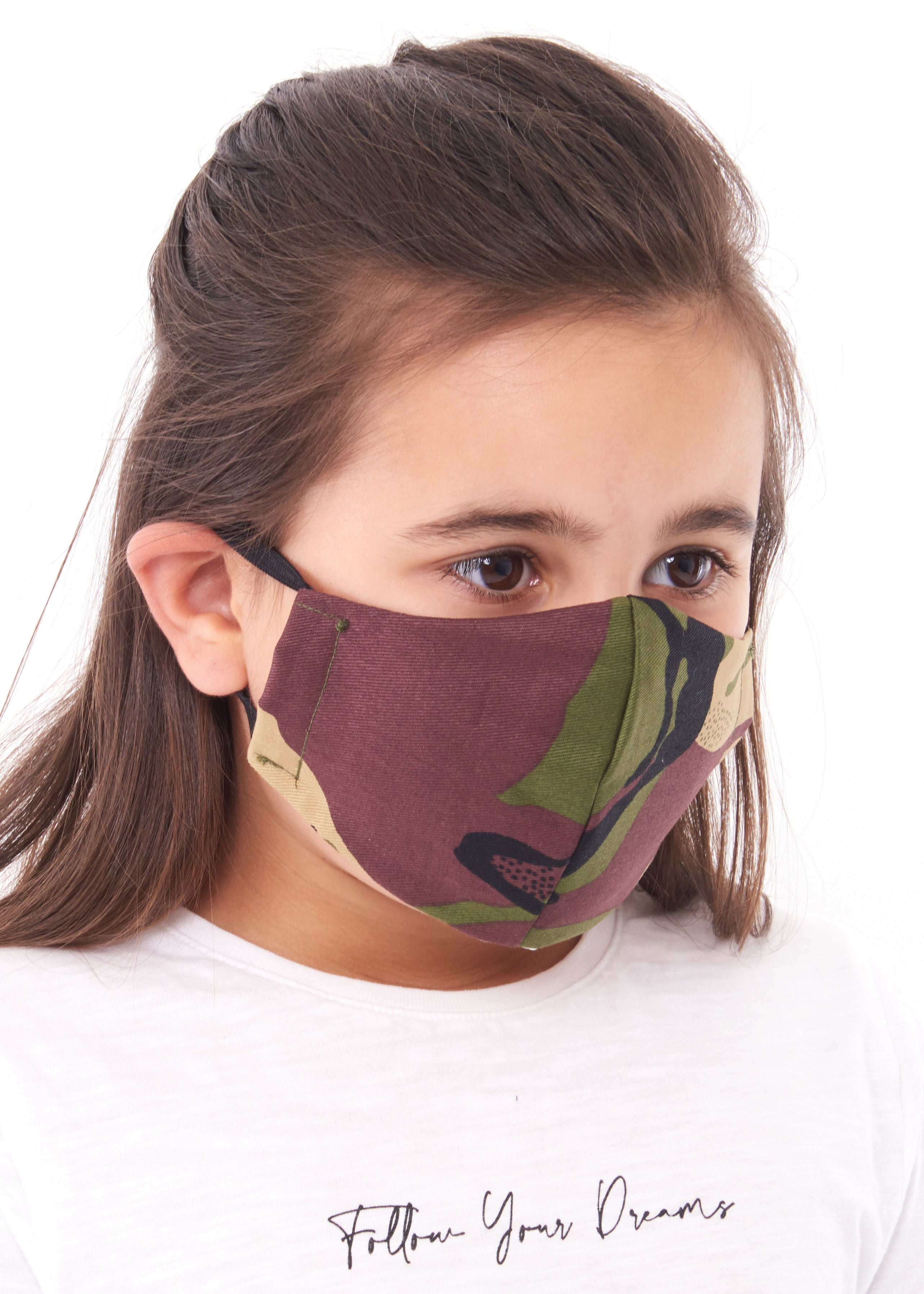 childs camouflage charity face mask, charity masks