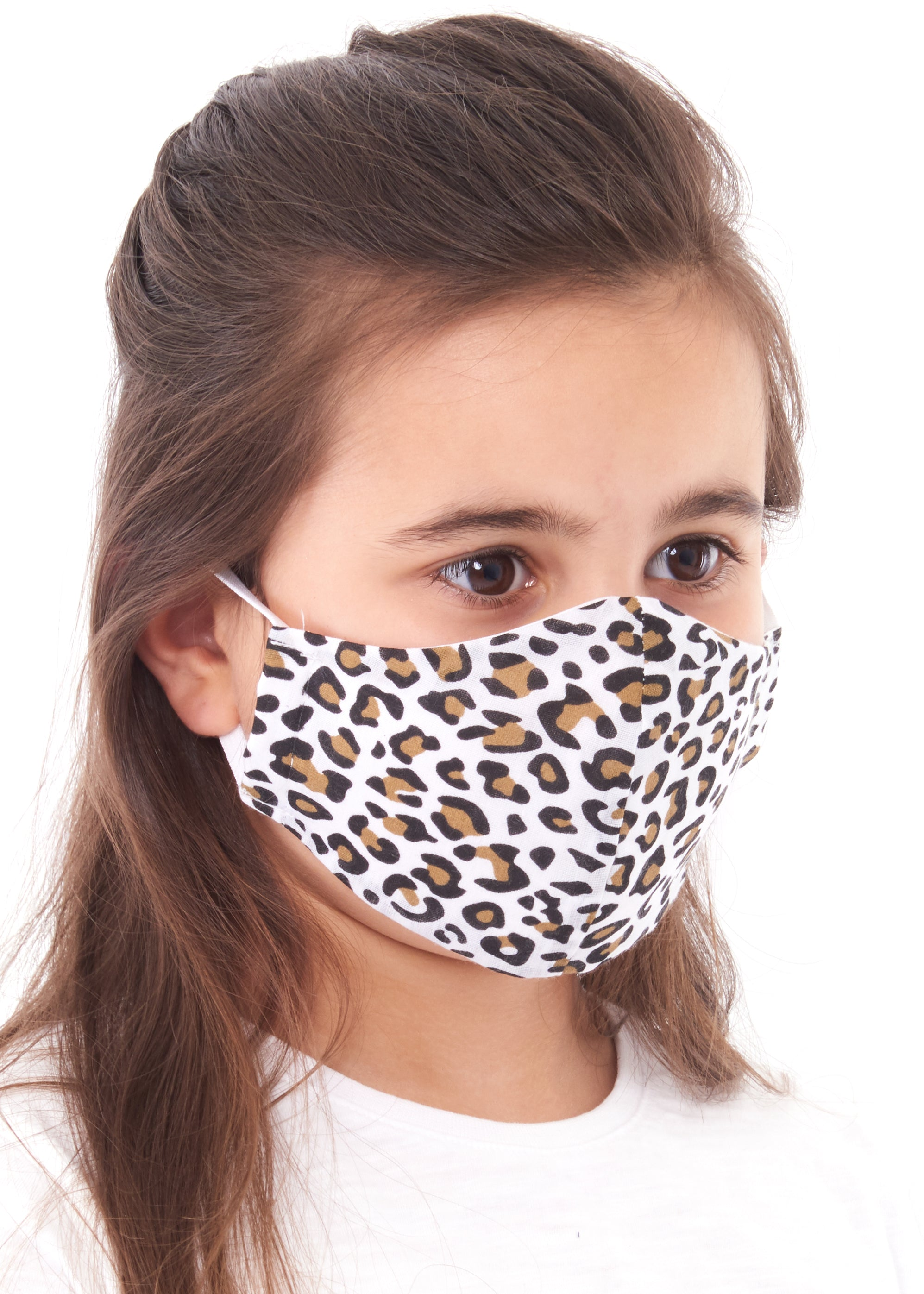 childs leopard print charity face mask, charity masks