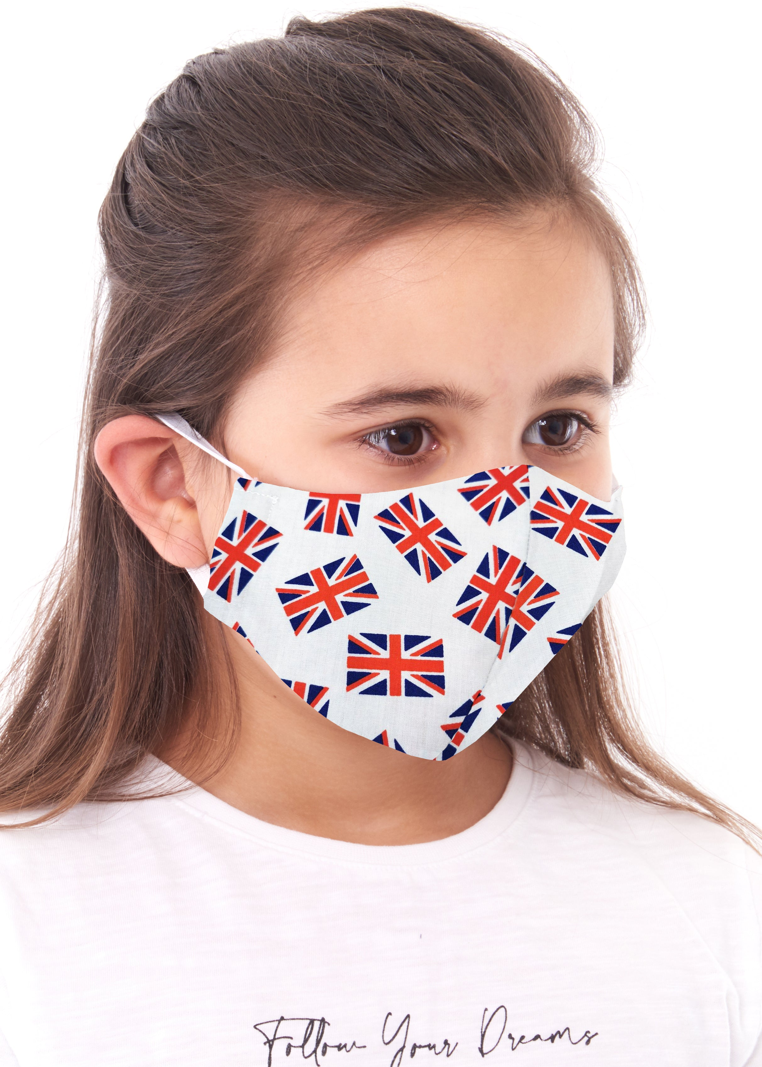childs union jack charity face mask