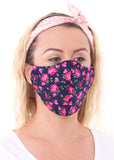 Large Rose Flower Charity Face Mask