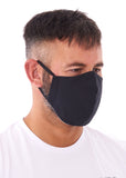 mens large black charity face mask - charity masks