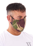 Large Camouflage Print Charity Face Mask