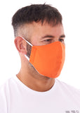 Adults large orange charity face mask from Charity Masks