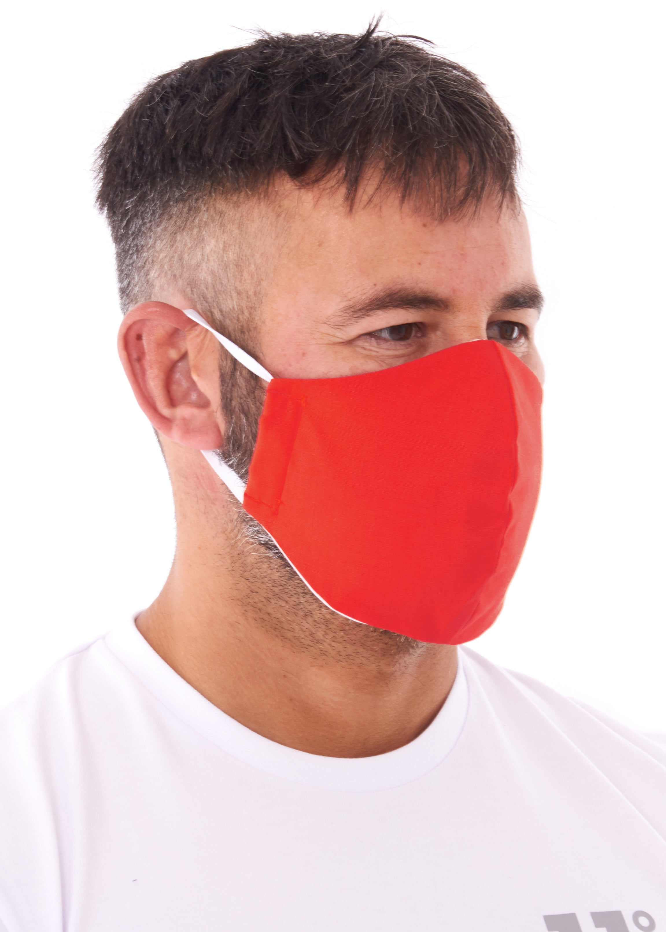 adults large red charity face mask, charity masks