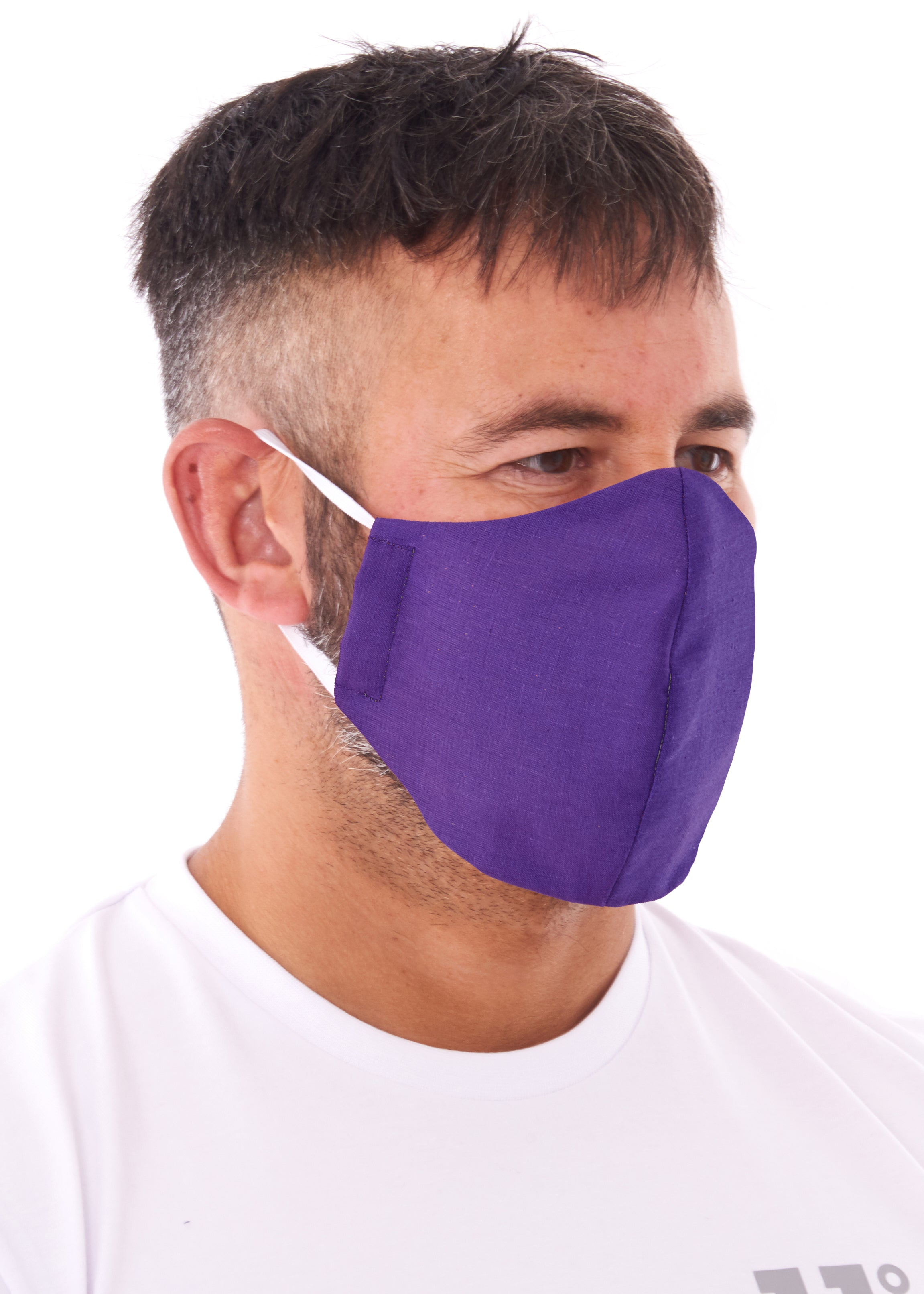 adults large purple charity face mask, charity masks