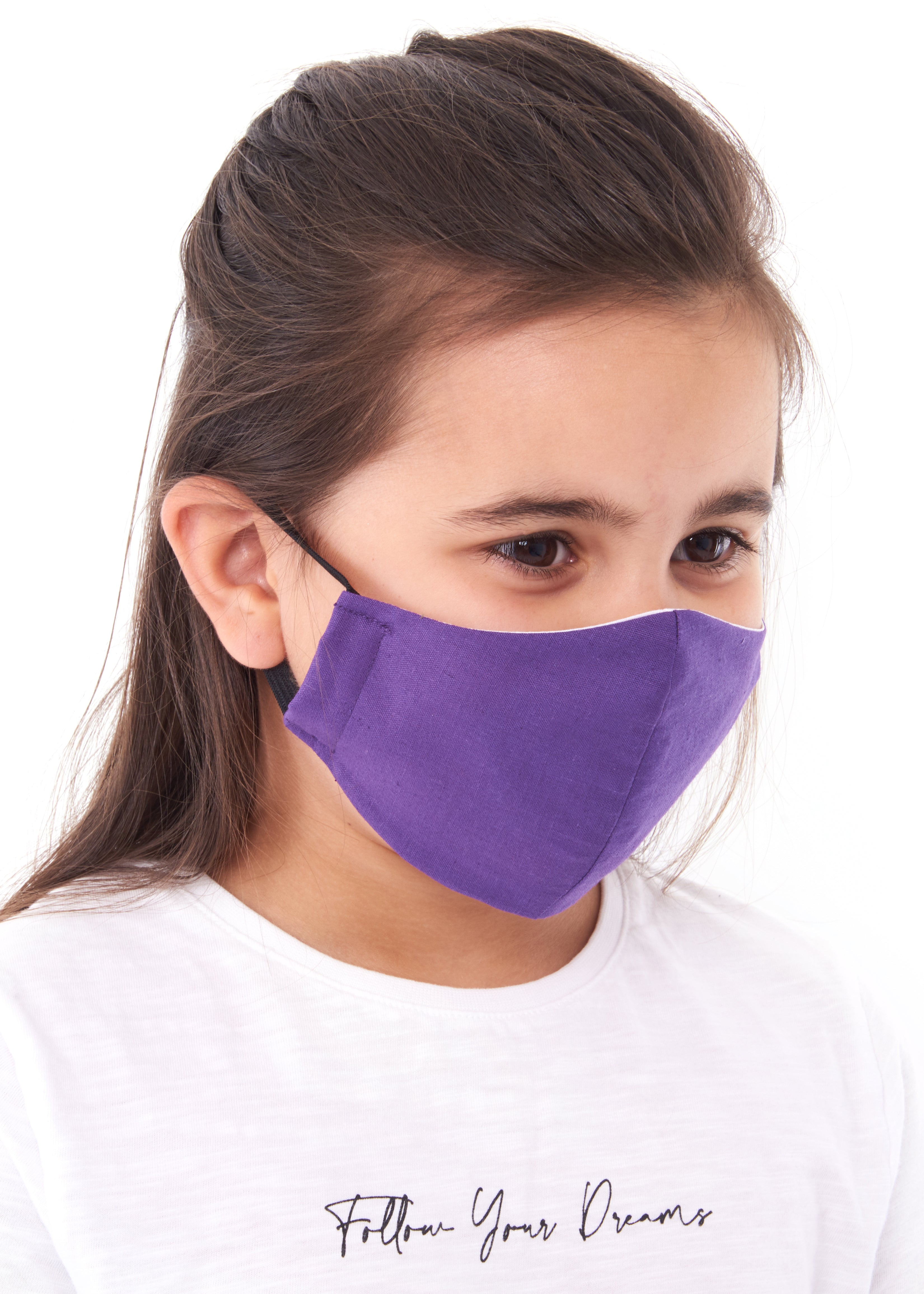 childs purple charity face mask, charity mask