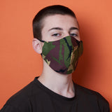 medium size camouflage print charity face mask, charity masks