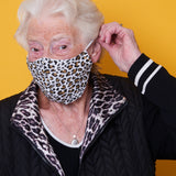 Adults Large Leopard Print Charity Face Mask