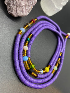 Purple Panther Waist Beads