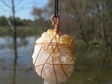 Load image into Gallery viewer, Raw Citrine Cluster Pendant
