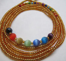 Load image into Gallery viewer, Golden Chakra Waist Beads