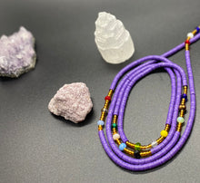 Load image into Gallery viewer, Purple Panther Waist Beads