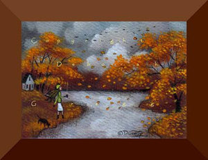 """October Skies,"" a tiny aceo Autumn PRINT by Deborah Gregg"