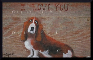 """It's Unconditional,"" a Tiny Bassett Hound Dog Love Print by Deborah Gregg"