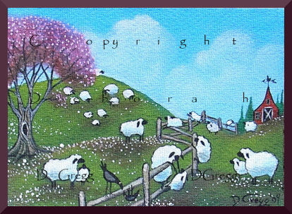 """Thanks Mom,"" a Tiny Mother Sheep Crow Mothers Day PRINT by Deborah Gregg"