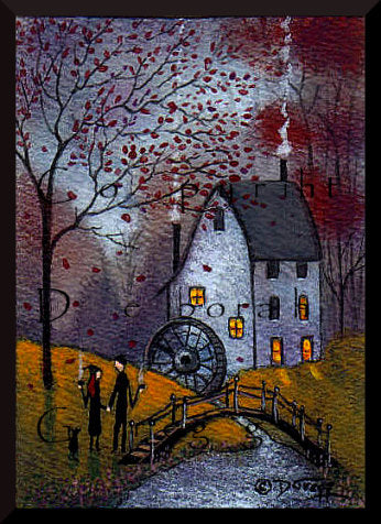 """Mill Morning,"" a Tiny Autumn Love Valentine Print by Deborah Gregg"