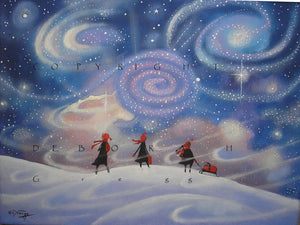 """Under The Stars With The Wind at Our Backs,"" a Galaxy Stars Universe Snow PRINT by Deborah Gregg"