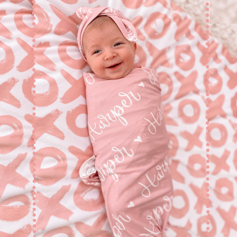 Personalized Baby Name Swaddle Bundle