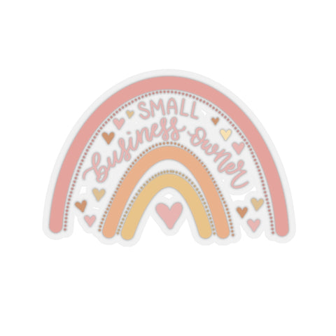 Small Business Owner Rainbow Sticker