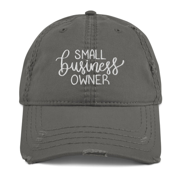 Small Business Owner Distressed Hat