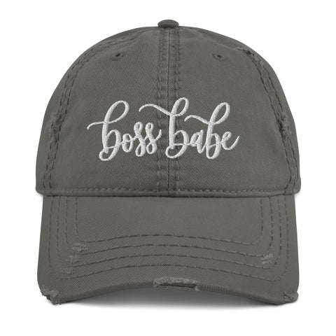Boss Babe Distressed Hat