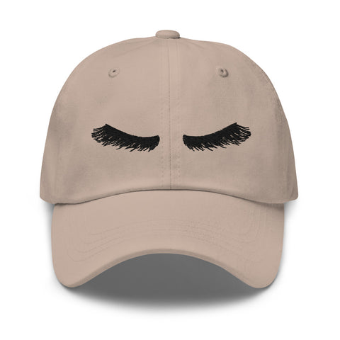 Embroidered Lashes Hat