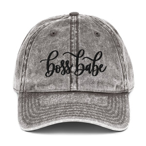 Boss Babe Grey Denim Cap