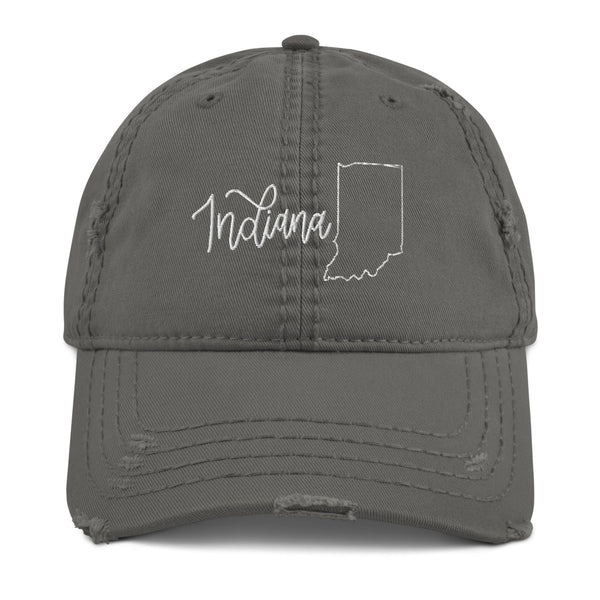 Indiana Distressed Hat