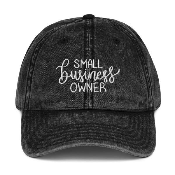 Small Business Owner Vintage Denim Cap